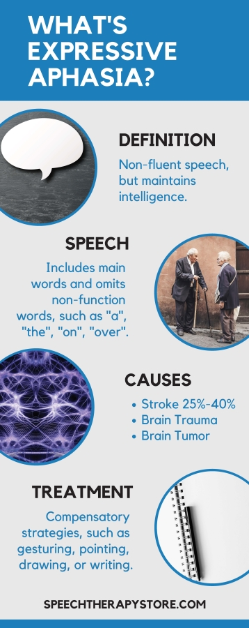 what's expressive aphasia infographic