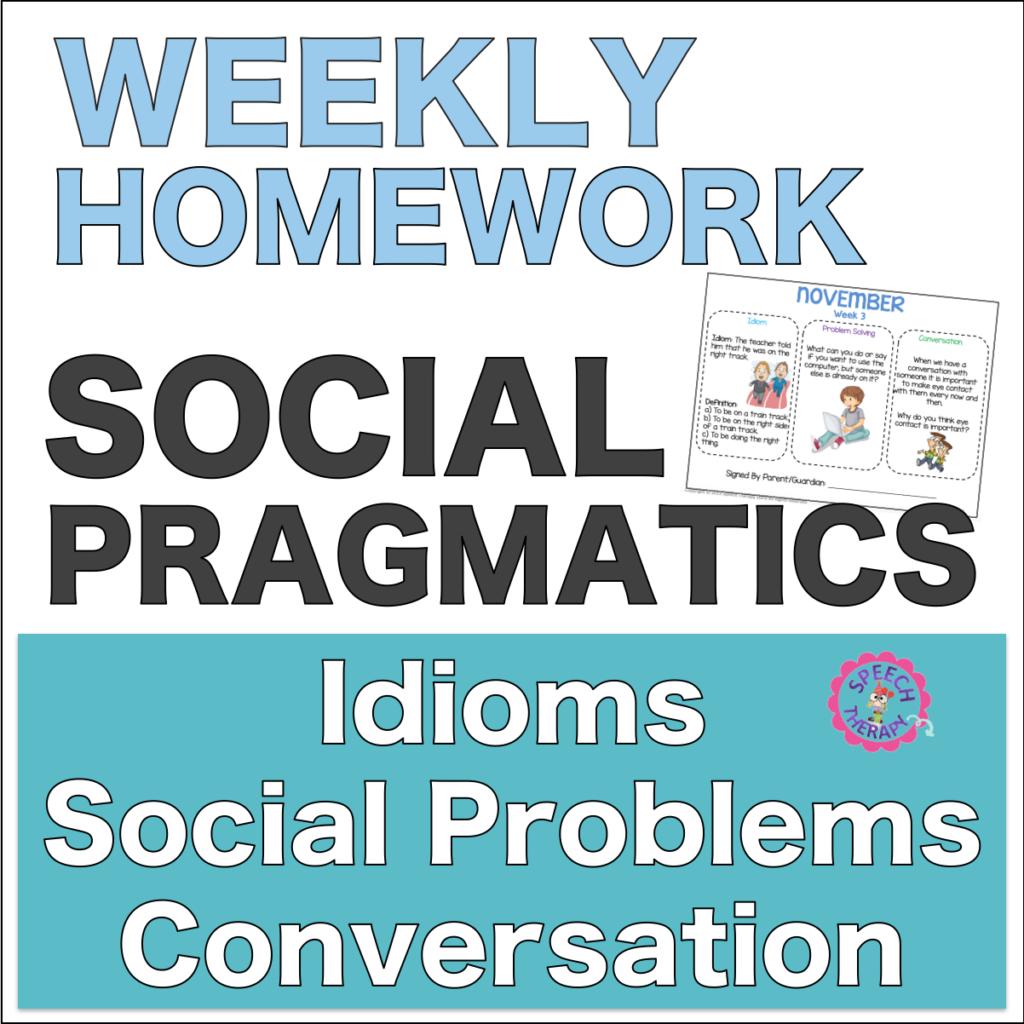 Social Pragmatics Homework