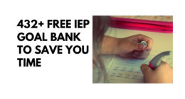 432+ Free Measurable IEP Goals and Objectives Bank