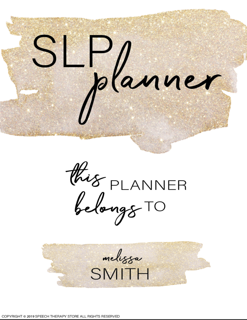 Free SLP Planner Cover Page