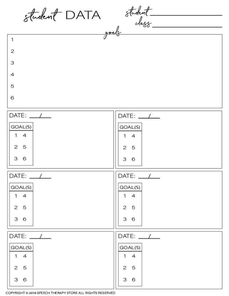 Free SLP Planner Data Tracking Individual 6