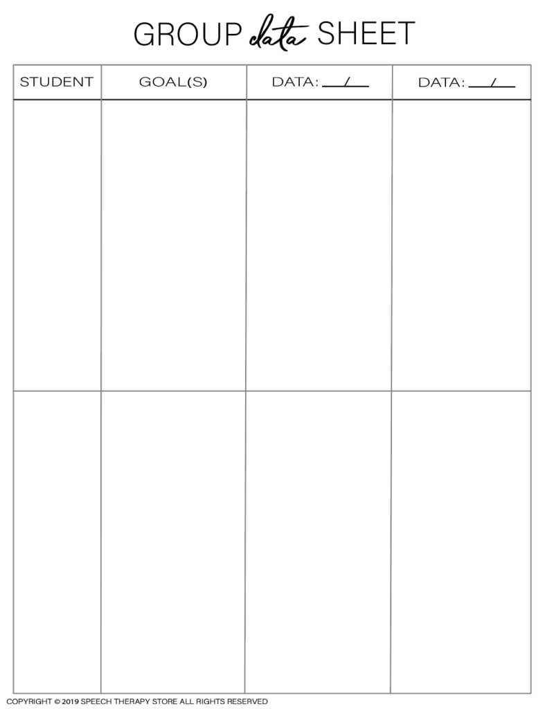 Free SLP Planner Group Data 2