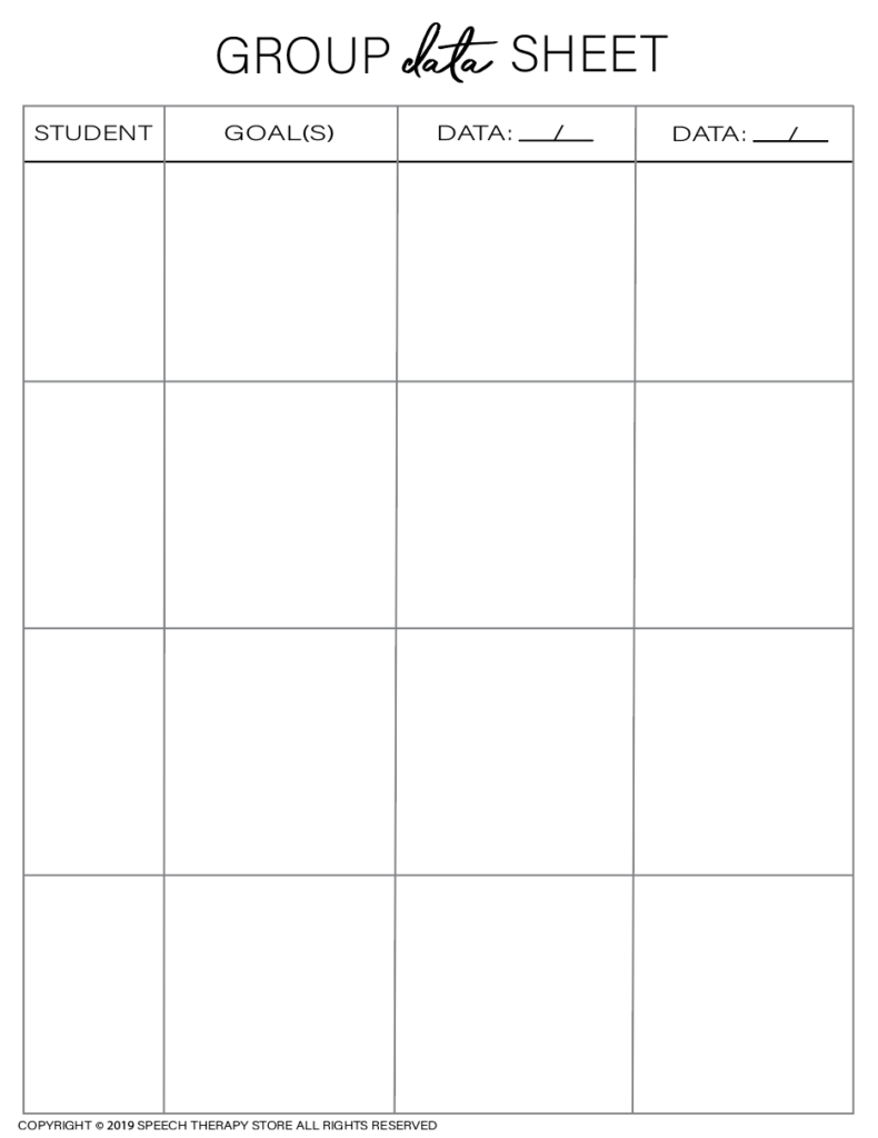 Free SLP Planner Group Data 4
