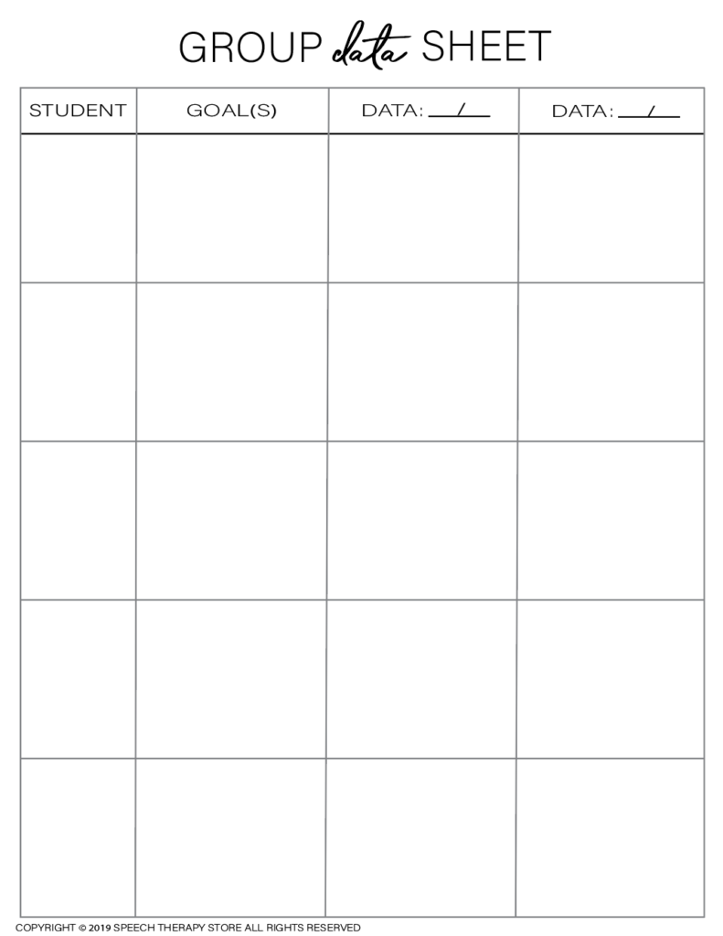 Free SLP Planner Group Data 5