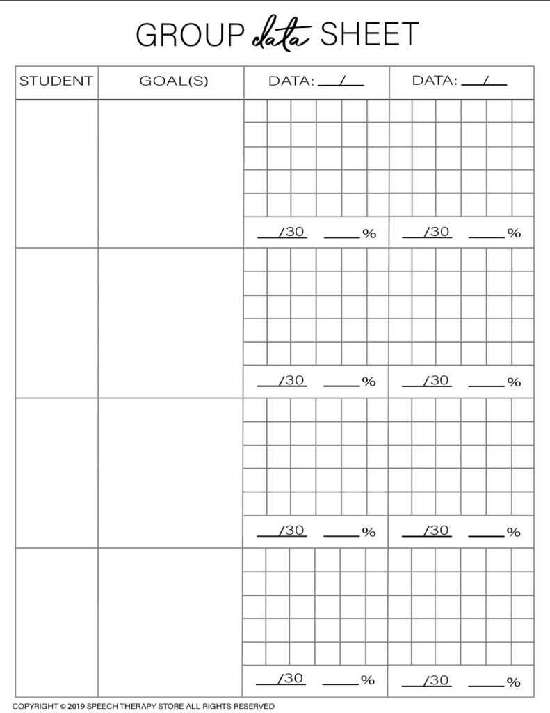 Free SLP Planner Group Artic 4
