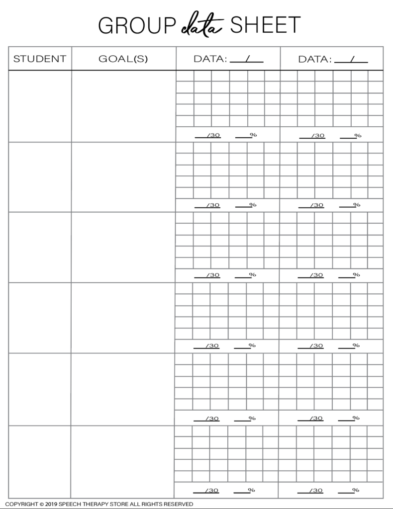Free SLP Planner Group Artic 6