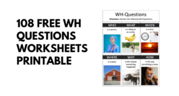 108 Free Wh Questions Worksheets Printable