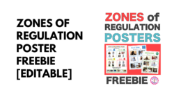 Zones of Regulation Poster Freebie [Editable]