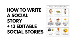 How to Write a Social Story + 13 Editable Stories