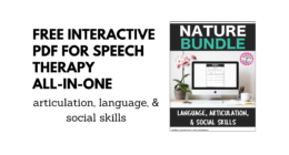 Best FREE Interactive PDF for Speech Therapy All-in-One