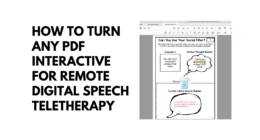 How to Turn Any PDF Interactive for Remote Digital Speech Teletherapy