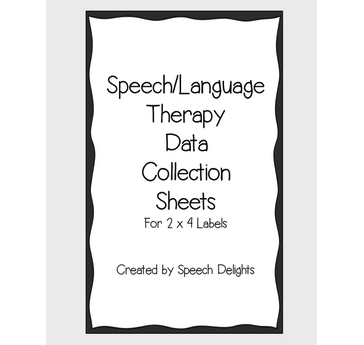speech-language-therapy-data-collection-sheets