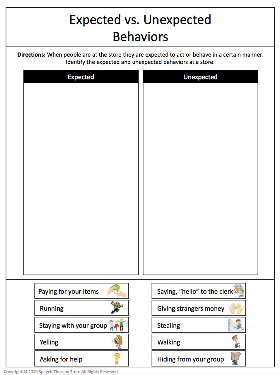 7 Free Community Outings Printables Life Skills Speech Therapy Store