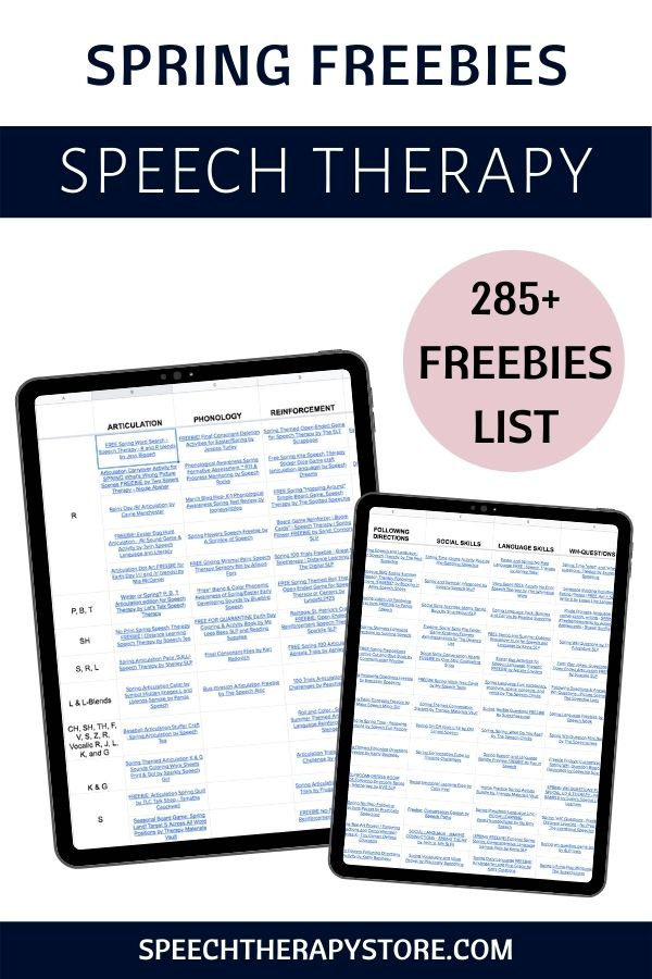 spring-speech-therapy-ideas